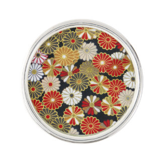 Falln Golden Chrysanthemums Lapel Pin