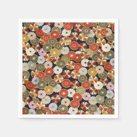 Falln Golden Chrysanthemums Paper Napkin
