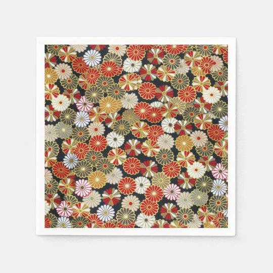 Falln Golden Chrysanthemums Paper Napkins