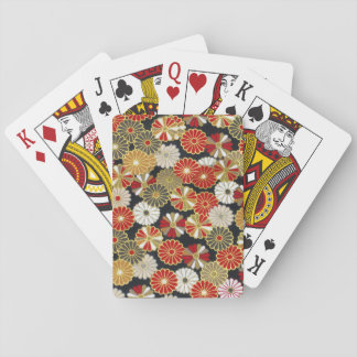 Falln Golden Chrysanthemums Poker Deck