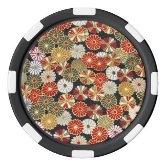 Falln Golden Chrysanthemums Set Of Poker Chips