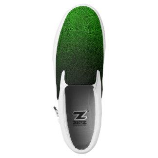 Falln Green & Black Glitter Gradient Slip-On Sneakers