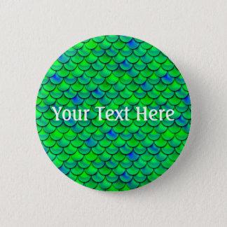 Falln Green Blue Scales 2 Inch Round Button