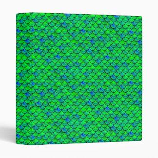 Falln Green Blue Scales 3 Ring Binder