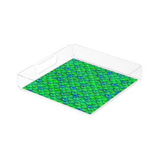 Falln Green Blue Scales Acrylic Tray