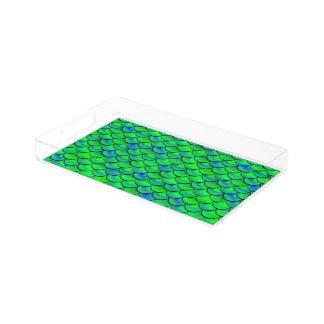 Falln Green Blue Scales Acrylic Tray