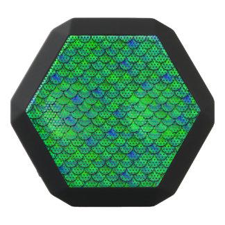 Falln Green Blue Scales Black Bluetooth Speaker