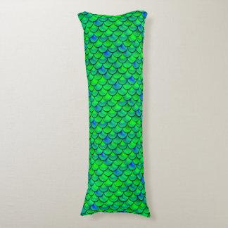 Falln Green Blue Scales Body Pillow