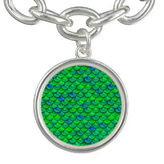 Falln Green Blue Scales Bracelet