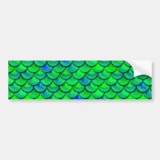 Falln Green Blue Scales Bumper Sticker