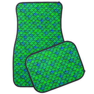 Falln Green Blue Scales Car Floor Carpet