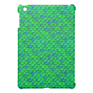 Falln Green Blue Scales Case For The iPad Mini