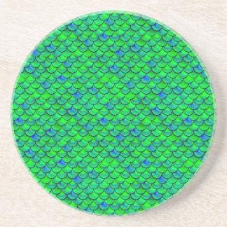 Falln Green Blue Scales Coaster