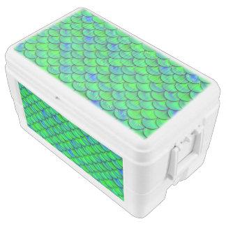 Falln Green Blue Scales Cooler