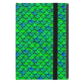 Falln Green Blue Scales Cover For iPad Mini