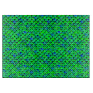 Falln Green Blue Scales Cutting Board