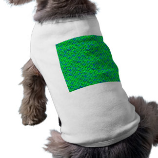 Falln Green Blue Scales Dog Tee Shirt