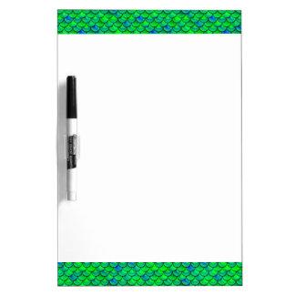Falln Green Blue Scales Dry-Erase Boards