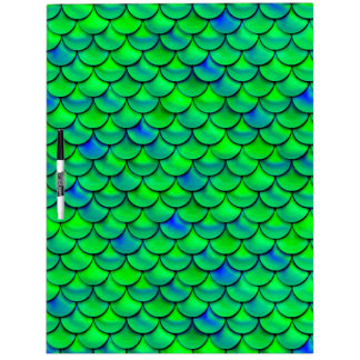 Falln Green Blue Scales Dry-Erase Whiteboards