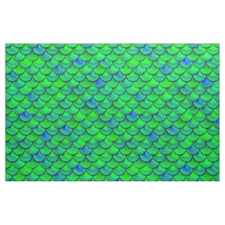 Falln Green Blue Scales Fabric