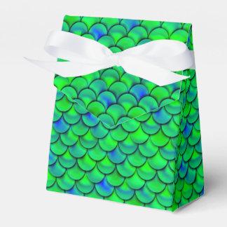 Falln Green Blue Scales Favor Box