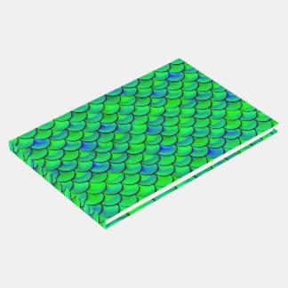 Falln Green Blue Scales Guest Book