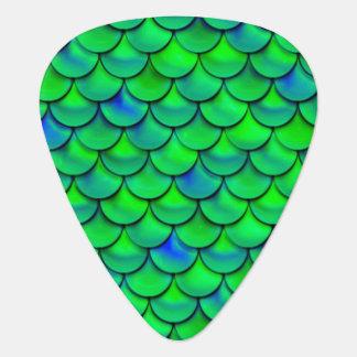 Falln Green Blue Scales Guitar Pick