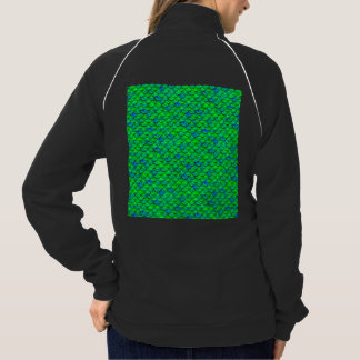 Falln Green Blue Scales Jacket