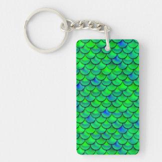 Falln Green Blue Scales Keychain