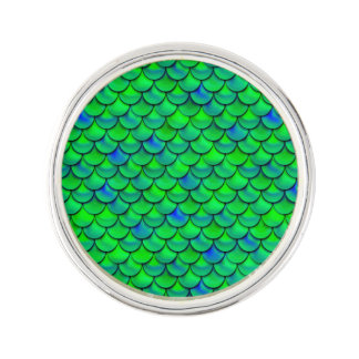 Falln Green Blue Scales Lapel Pin