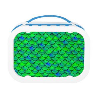 Falln Green Blue Scales Lunch Box