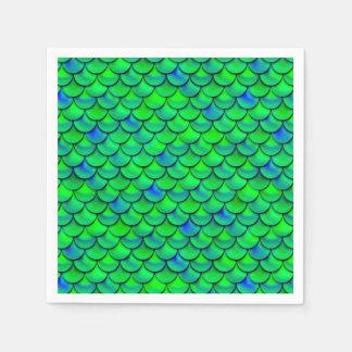 Falln Green Blue Scales Paper Napkin