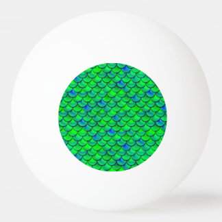 Falln Green Blue Scales Ping Pong Ball