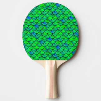 Falln Green Blue Scales Ping Pong Paddle