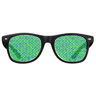 Falln Green Blue Scales Retro Sunglasses