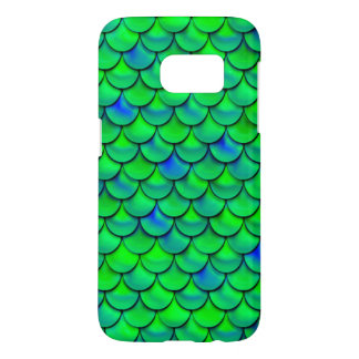 Falln Green Blue Scales Samsung Galaxy S7 Case