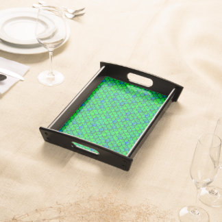Falln Green Blue Scales Serving Tray
