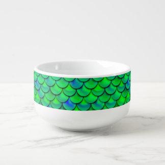 Falln Green Blue Scales Soup Mug