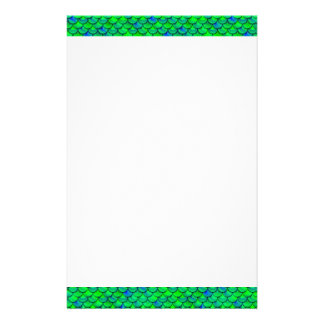 Falln Green Blue Scales Stationery