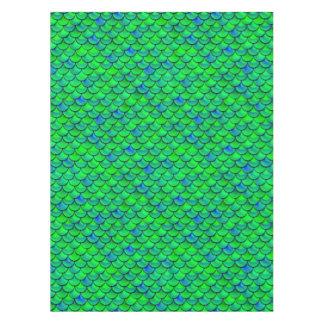 Falln Green Blue Scales Tablecloth