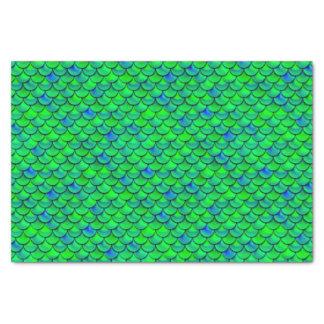 Falln Green Blue Scales Tissue Paper