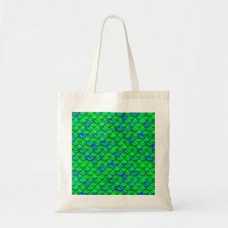 Falln Green Blue Scales Tote Bag