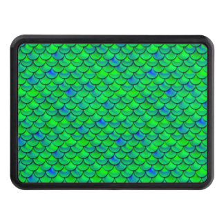 Falln Green Blue Scales Trailer Hitch Cover