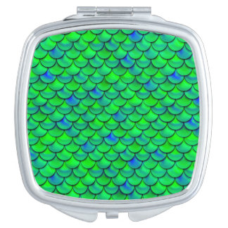 Falln Green Blue Scales Travel Mirrors