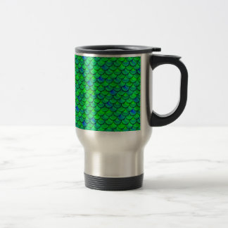 Falln Green Blue Scales Travel Mug