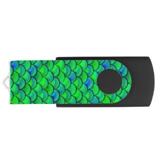 Falln Green Blue Scales USB Flash Drive