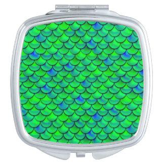 Falln Green Blue Scales Vanity Mirror