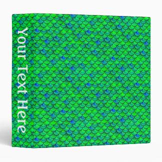 Falln Green Blue Scales Vinyl Binder
