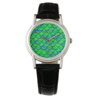 Falln Green Blue Scales Watches