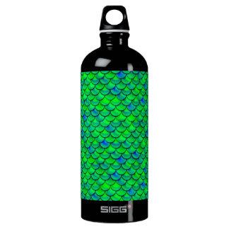 Falln Green Blue Scales Water Bottle